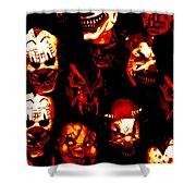 Masks Of Fear Shower Curtain