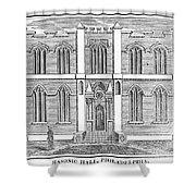 Masonic Hall, C1830 Shower Curtain