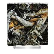 Mass Grave Shower Curtain by Donna Blackhall