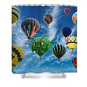 Mass Hot Air Balloon Launch Shower Curtain
