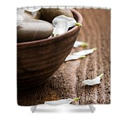 Massage Stones  Shower Curtain by Kati Molin