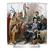 Massasoit & Carver, 1620 Shower Curtain
