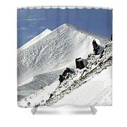 Massif Of Sancy In Winter. Puy De Dome. Auvergne Shower Curtain