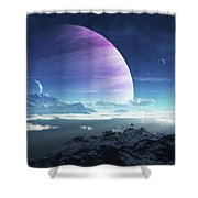 Massive Lei Gong Rises In The Distance Shower Curtain