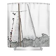 Mast Head Shower Curtain