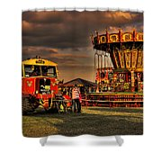Matador And The Wave Swingers Shower Curtain