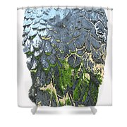 Matalic Angle Wings  Art Shower Curtain