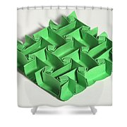Mathematical Origami Shower Curtain