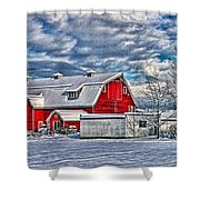 Matsqui Barn Hdr Shower Curtain