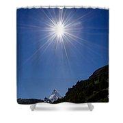 Matterhorn With Sunbeam Shower Curtain