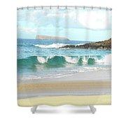 Maui Hawaii Beach Shower Curtain by Rebecca Margraf
