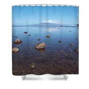 Maui Rocky Shore Shower Curtain