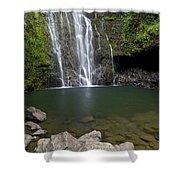 Mauis Wailua Falls Shower Curtain