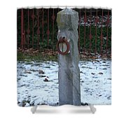 Mauricetown Hitching Post  Shower Curtain