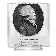 Maximilien Robespierre Shower Curtain