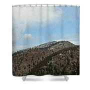 May In The Rockies Shower Curtain