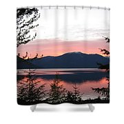 May Sunset On Kootenay Lake Shower Curtain