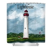 May The Magnificent Lighthouse  Shower Curtain