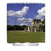 Mayan Ball Court Shower Curtain