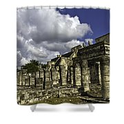 Mayan Colonnade Shower Curtain