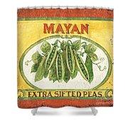 Mayan Peas Shower Curtain