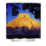 Mayan Pyramid Shower Curtain