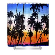 Mayaro Red Dawn Shower Curtain
