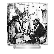 Mccarthyism Cartoon, 1951 Shower Curtain