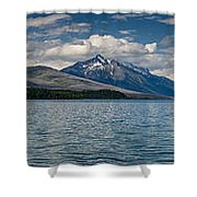 Mcdonald Lake Super Panorama Shower Curtain