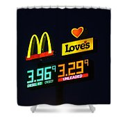 Mcdonalds Loves Gas Shower Curtain