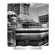Mckinley Memorial In Black And White Shower Curtain