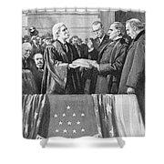 Mckinley Taking Oath, 1897 Shower Curtain