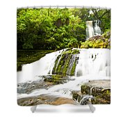 Mclean Falls In The Catlins Of South New Zealand Shower Curtain