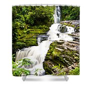 Mclean Falls In The Catlins Shower Curtain