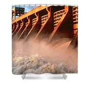 Mcnary Dam Shower Curtain by DOE/Science Source