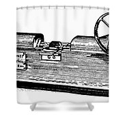 Measuring Machine Shower Curtain