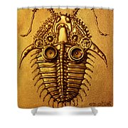 Mecha-trilobite 3 Shower Curtain