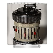 Mechanical Calculator Shower Curtain