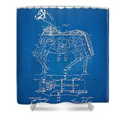 Mechanical Horse Toy Patent Artwork 1893 Shower Curtain by Nikki Marie Smith