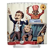 Medical Charlatan Selling Quack Cures Shower Curtain