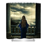 Medieval Lady Watching The Sea Shower Curtain