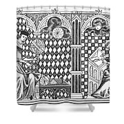 Medieval Mathematicians Shower Curtain
