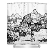Medieval Tartar Huts Shower Curtain