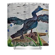 Anhinga-drying Out Shower Curtain