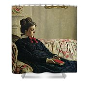 Meditation Shower Curtain by Claude Monet