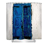 Mediterranean Blue  Shower Curtain