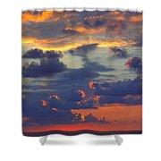 Mediterranean Sky Shower Curtain