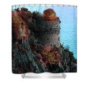 Mediterranean Turret Shower Curtain