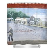 Meeting At Fort Meade Shower Curtain