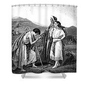 Meeting Of Jacob & Rachel Shower Curtain